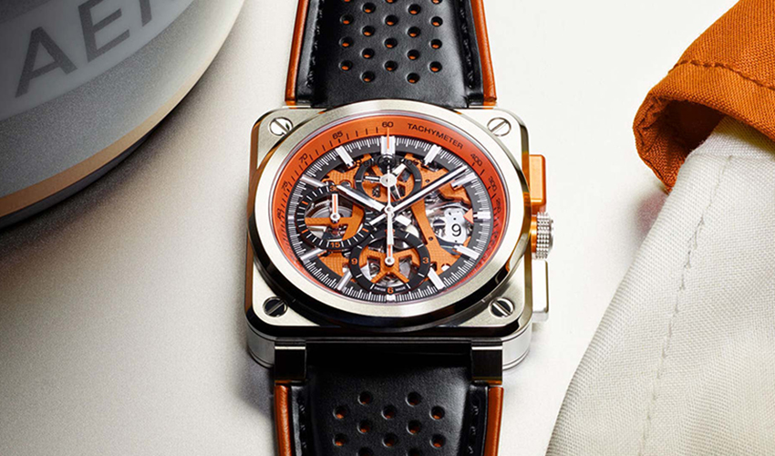 by bell & ross a prototype inspired a racing car|considered with the emergence of the br03 94 aerogt orange