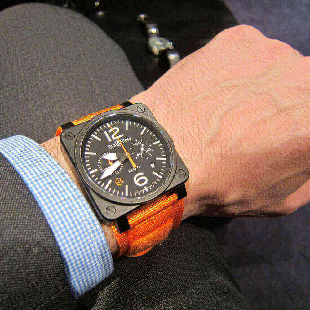 bell ross br 03 94 carbon orange watch personalidad que se destaca|bell ross br 03 94 carbon orange watch personalizad que se destaca