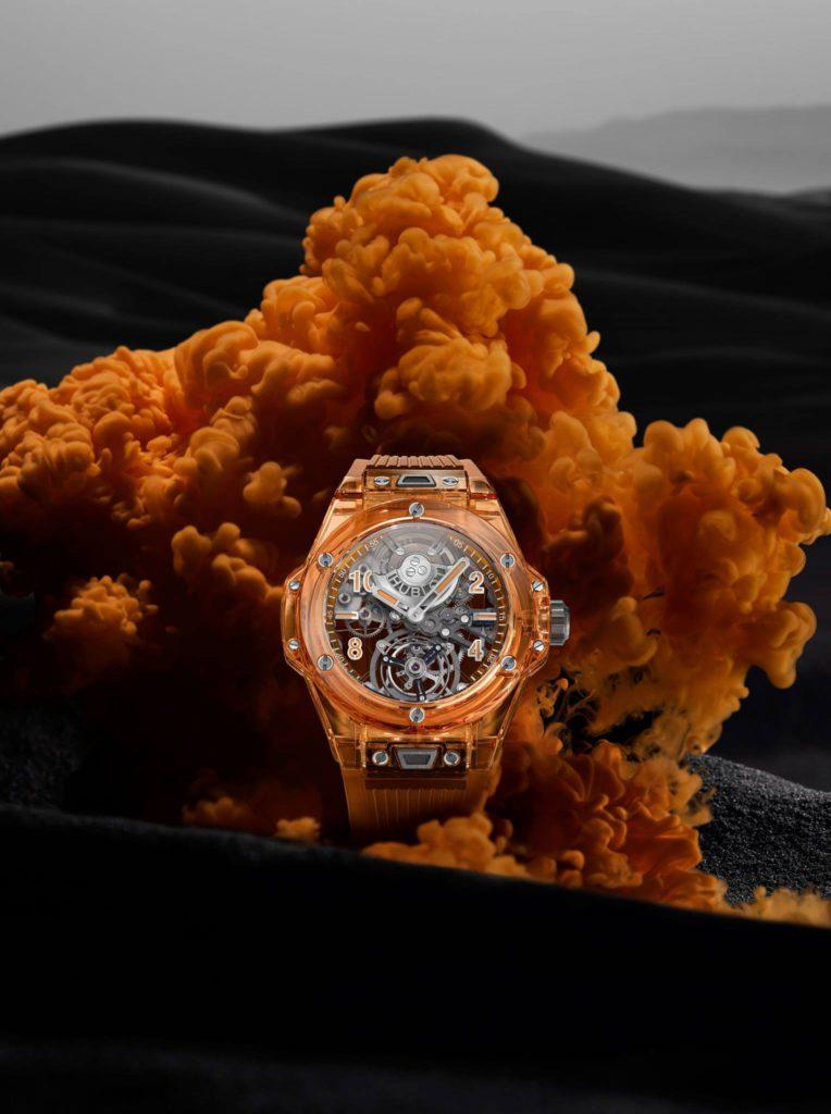 big bang tourbillon automatic orange 5