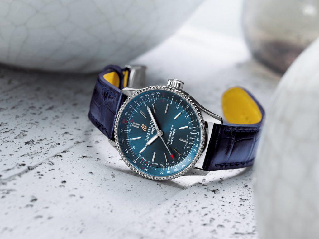 breitling navitimer automatic 35 2020 acero azul mood