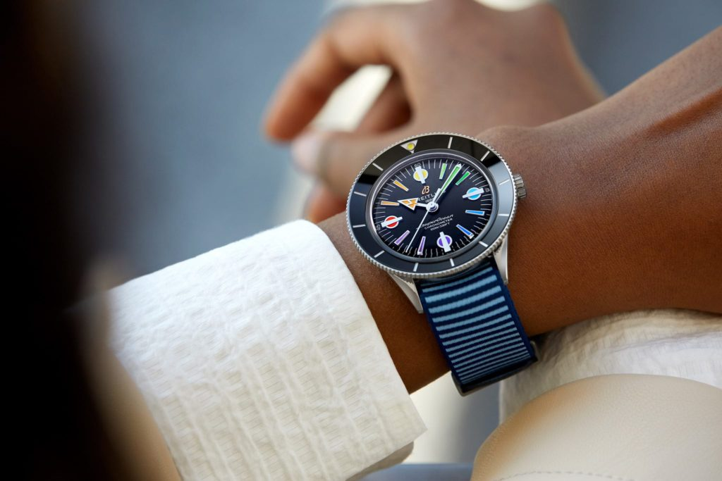 breitling superocean heritage 57 capsule limited edition nato blue