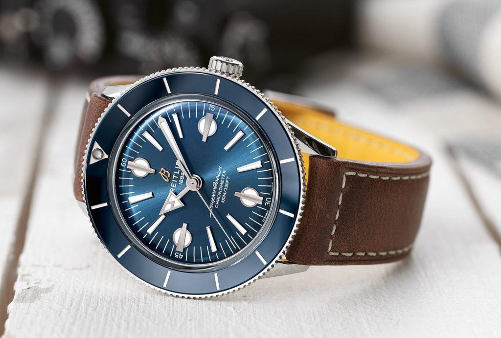 breitling superocean heritage 57 capsule caratula azul piel e1587062094798
