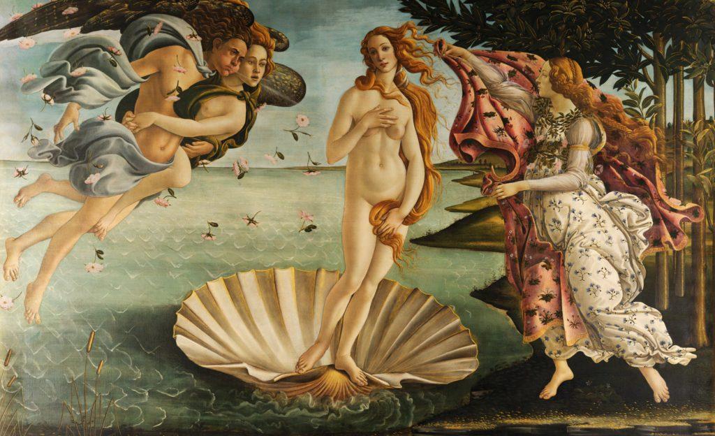 el nacimiento de venus 1485 sandro botticelli