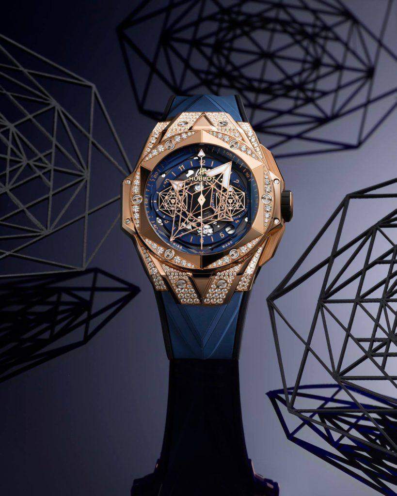hublot dubai watch week 2020 big bang sang bleu limited edition king gold