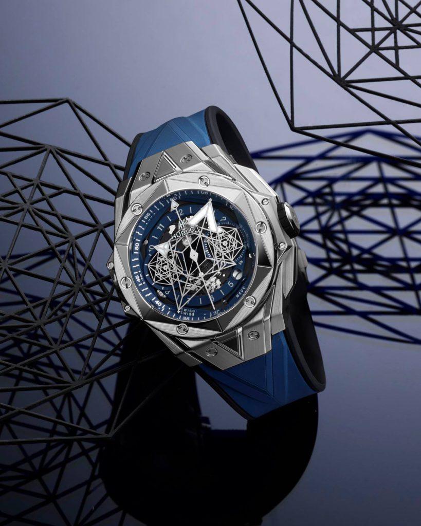 hublot dubai watch week 2020 big bang sang bleu limited edition titanium