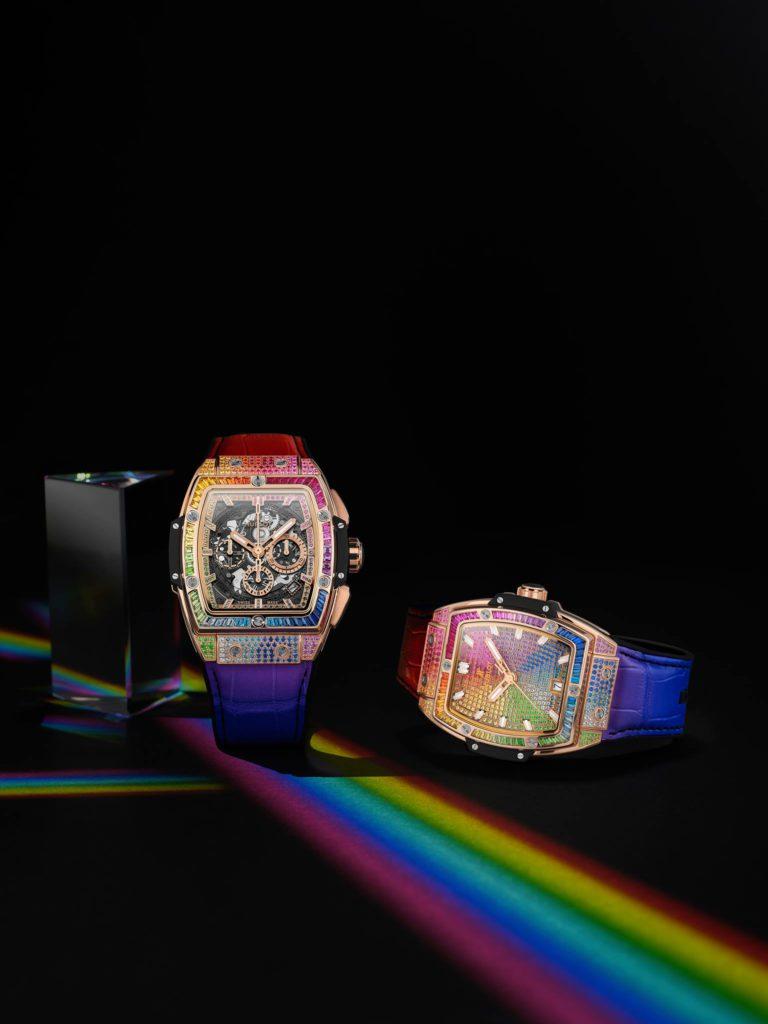 hublot dubai watch week 2020 spirit of big bang rainbow