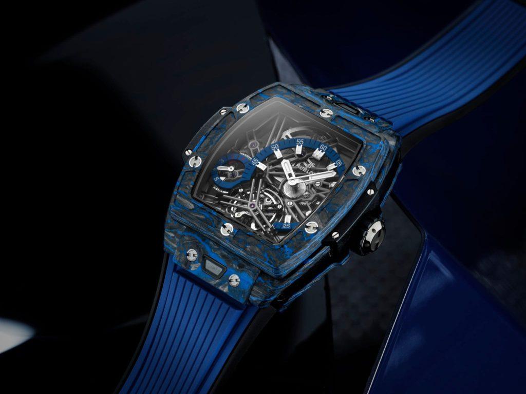 hublot spirit of big bang tourbillon carbon blue 42 mm 3