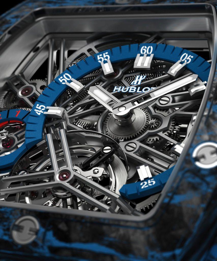hublot spirit of big bang tourbillon carbon blue 42 mm 4