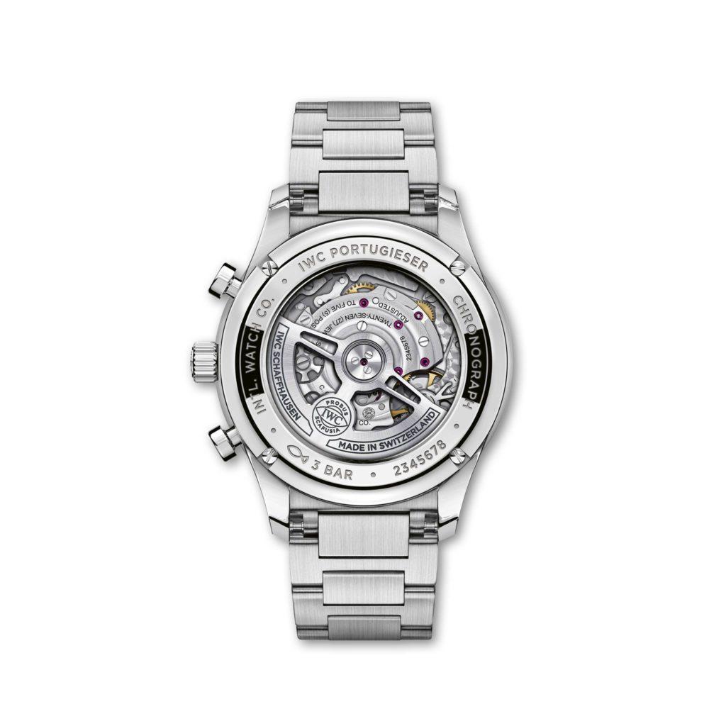 iwc portugieser chronograph acero fondo