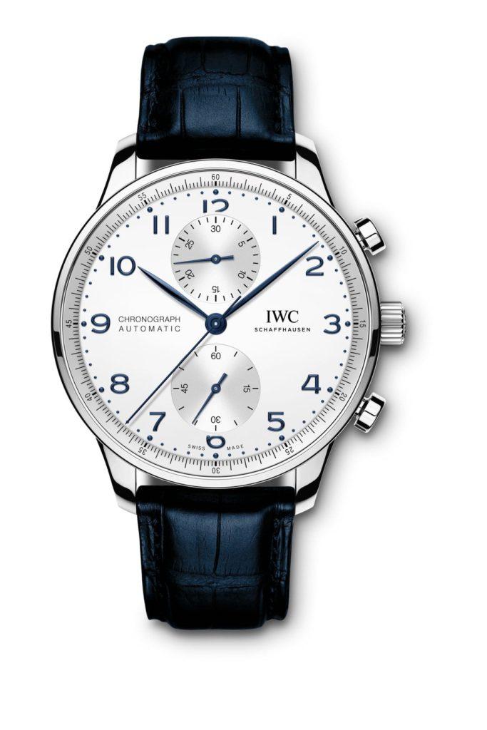 iwc schaffhausen portugieser chronograph 2020 acero correa azul