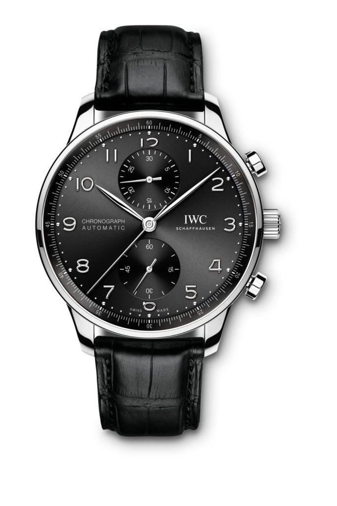 iwc schaffhausen portugieser chronograph 2020 caratula antracita