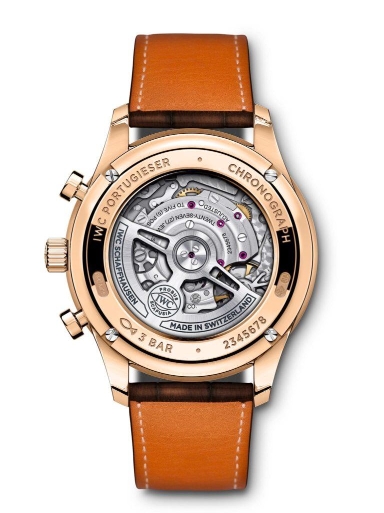 iwc schaffhausen portugieser chronograph 2020 oro rosa back
