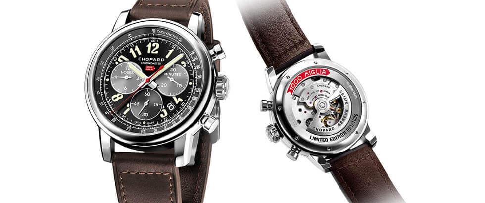 la velocidad y el tiempo son fusionados por chopard en este reloj