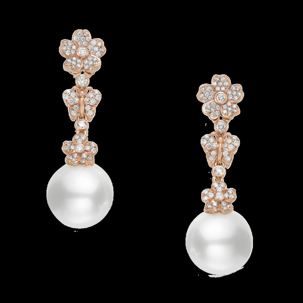 mikimoto cherry blossom earrings mea10260ndxz