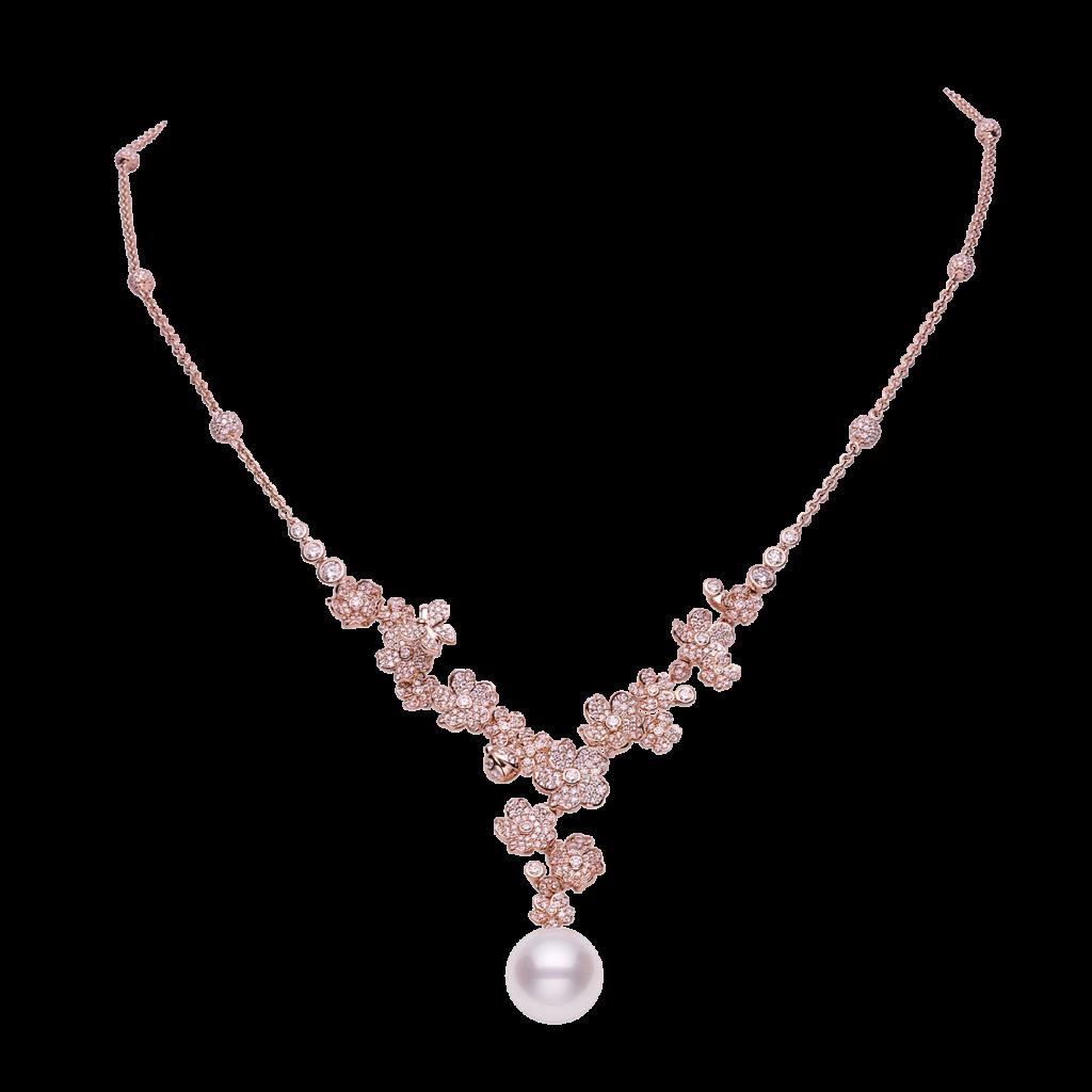 mikimoto cherry blossom necklace mpa10287ndxz