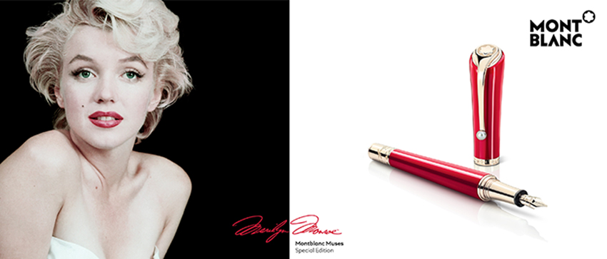 la hermosa musa de montblanc|montblanc muses marilyn monroe special edition