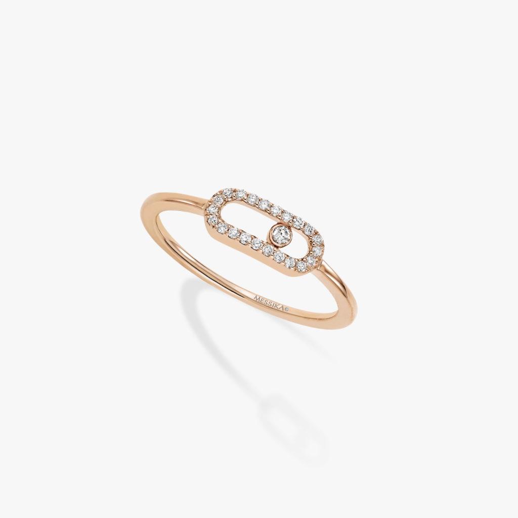 messika move uno anillo rosa diamante