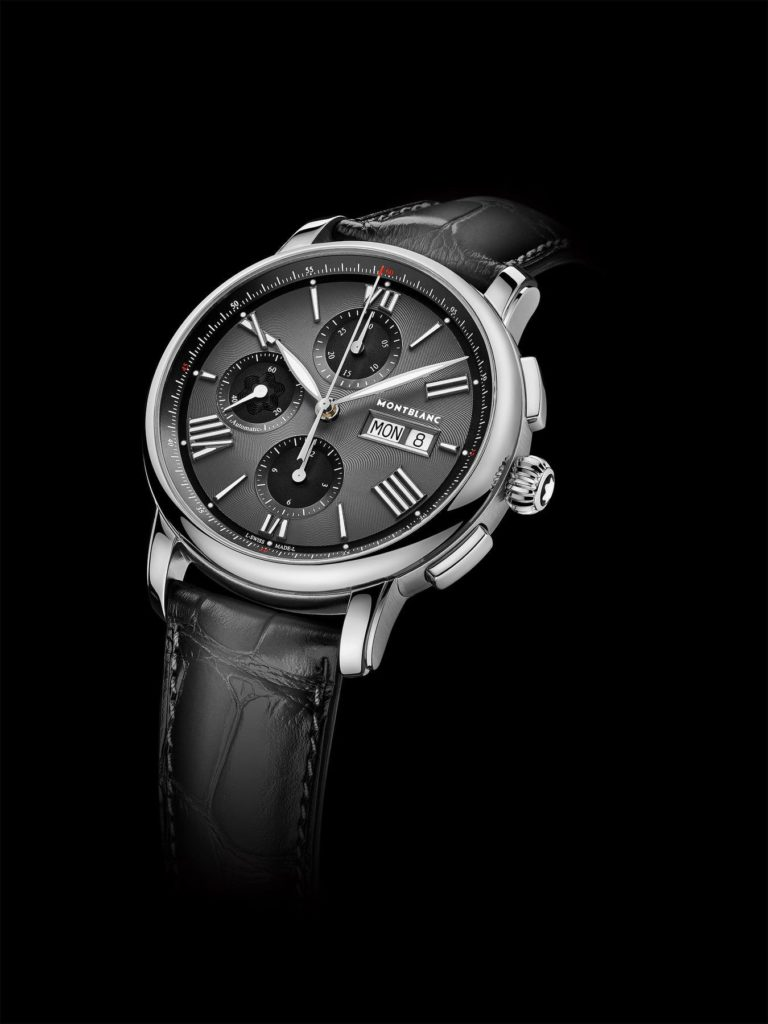 montblanc star legacy chronograph day date grey