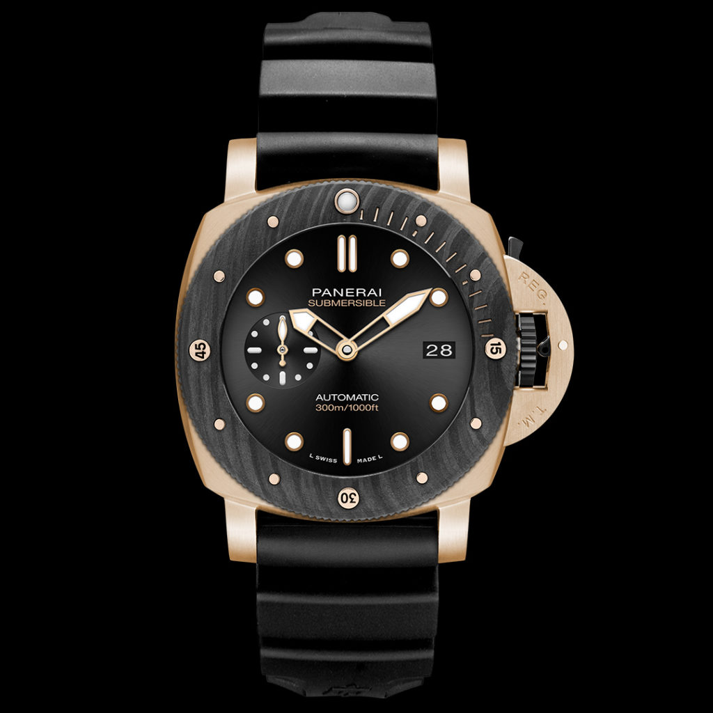 panerai submersible goldtech orocarbo 44 mm 1