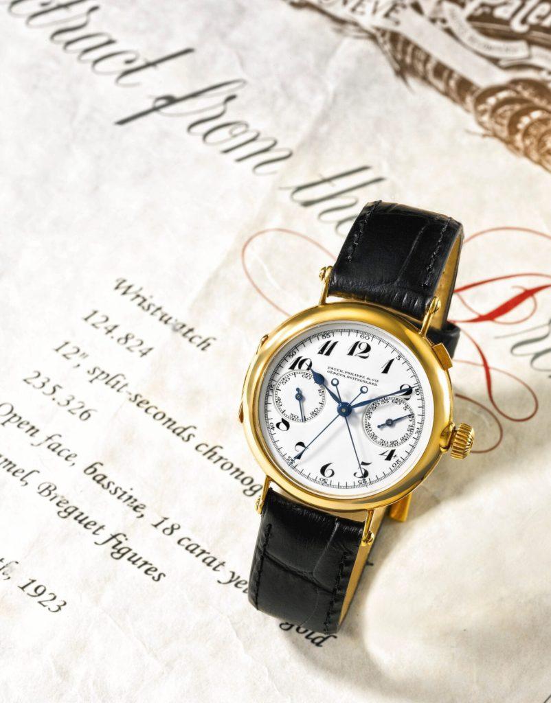 patek philippe primer crono ratrapante de pulso n 124 824