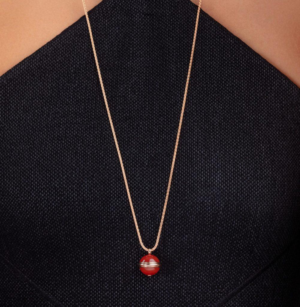 piaget possession collar largo de oro rosa 2