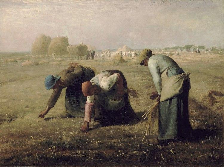 realismo las espigadoras millet 1857