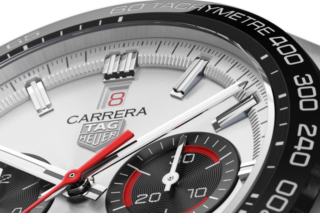 tag heuer carrera sport chronograph 160 years special edition dial scaled