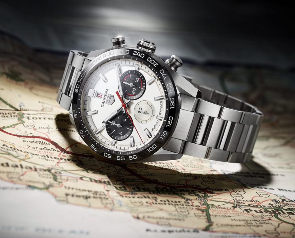 tag heuer carrera sport chronograph 160 years special edition lateral negro