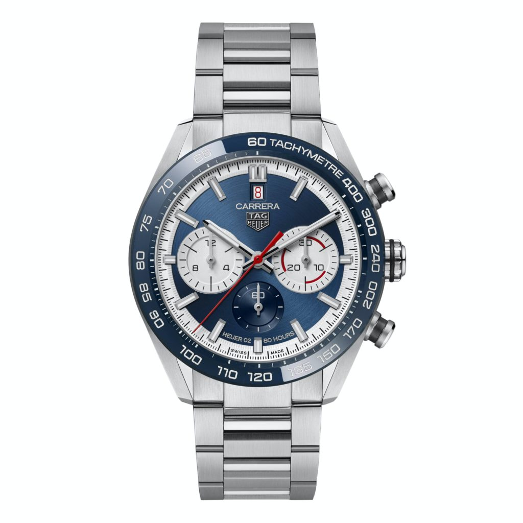 tag heuer carrera sport chronograph 160 years special edition soldier blue scaled