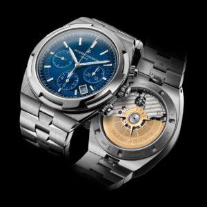 overseas chrono blue 5500v/110a b148 recto verso