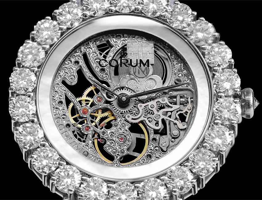 corum flor de diamantes ultrajewels|la flor esqueleto cobra vida gracias a corum