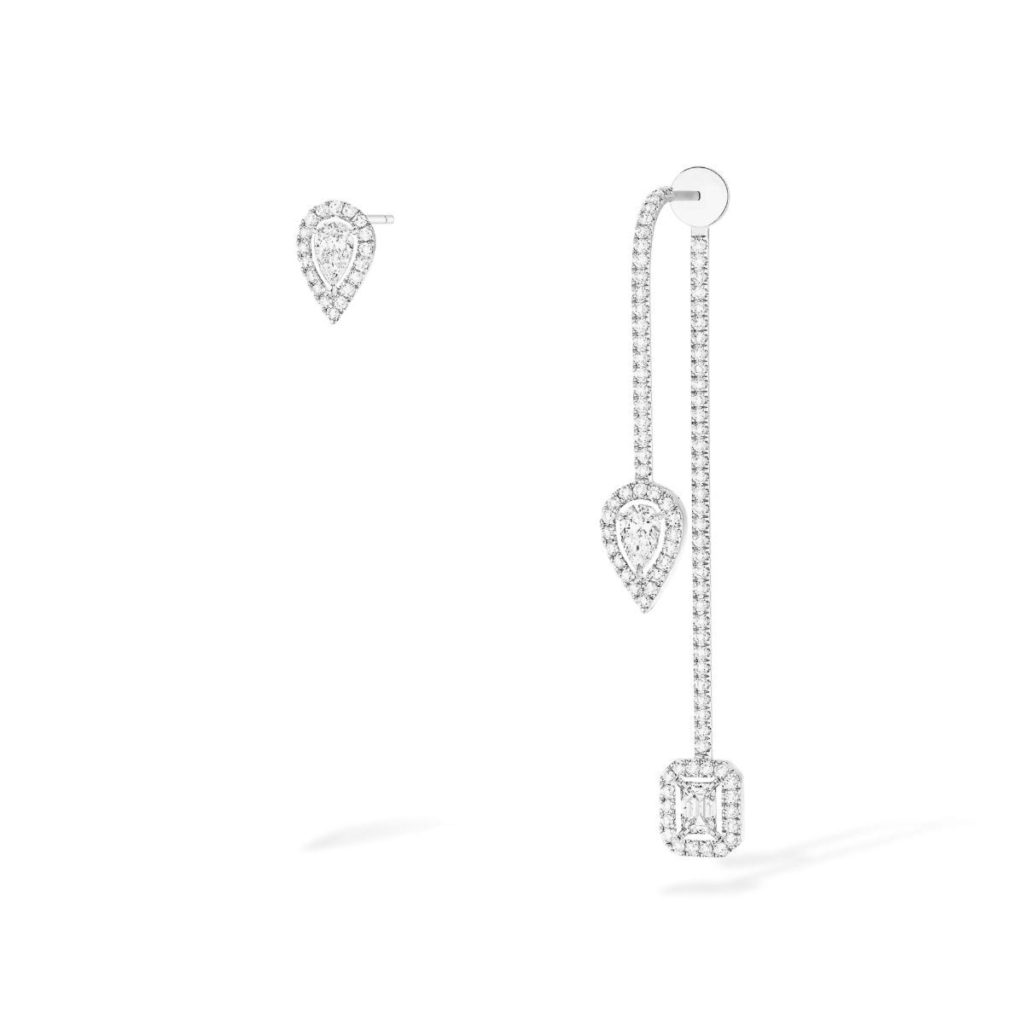 messika boucles doreilles my twin barre or blanc diamant 2 1