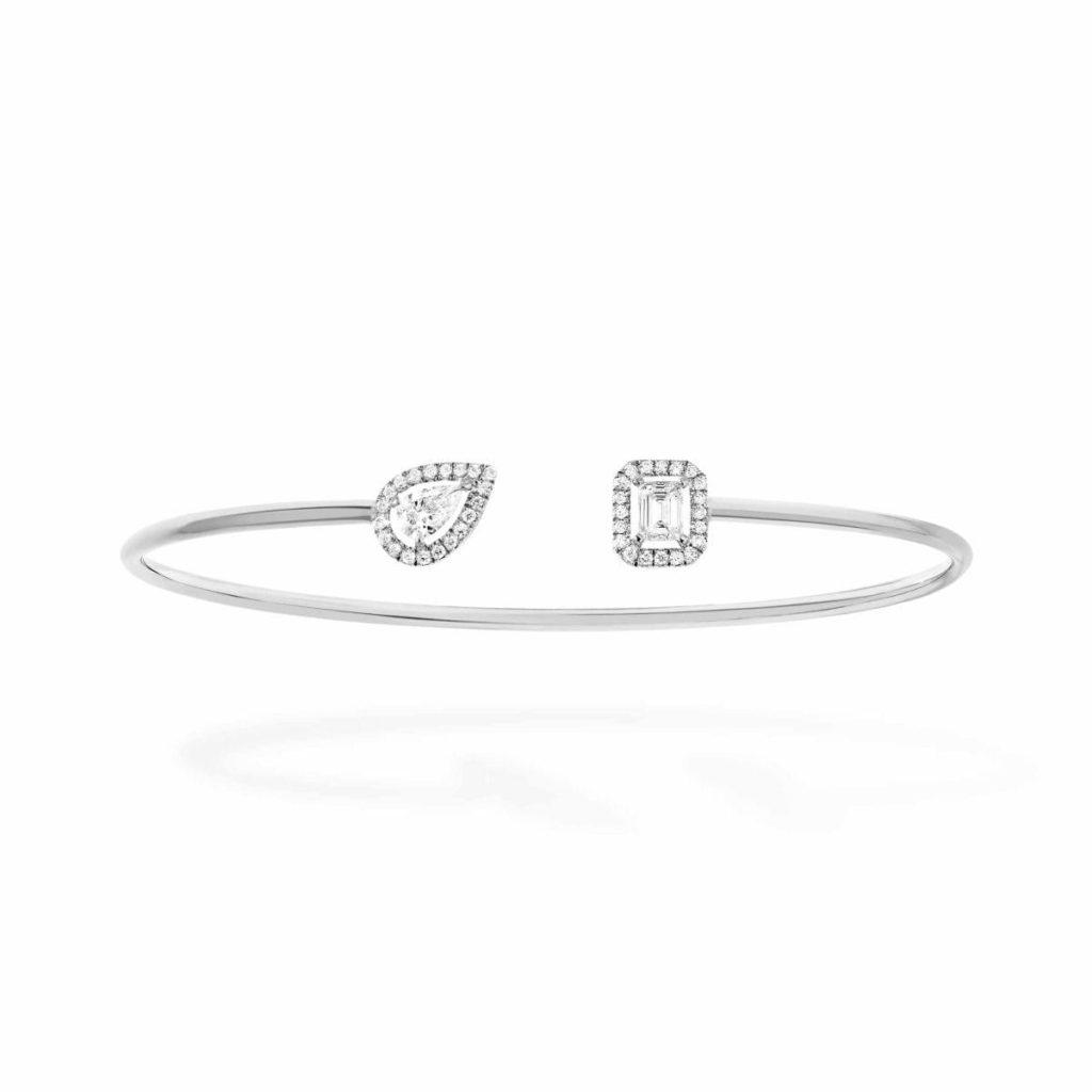 messika bracelet my twin memoire de forme or blanc diamant