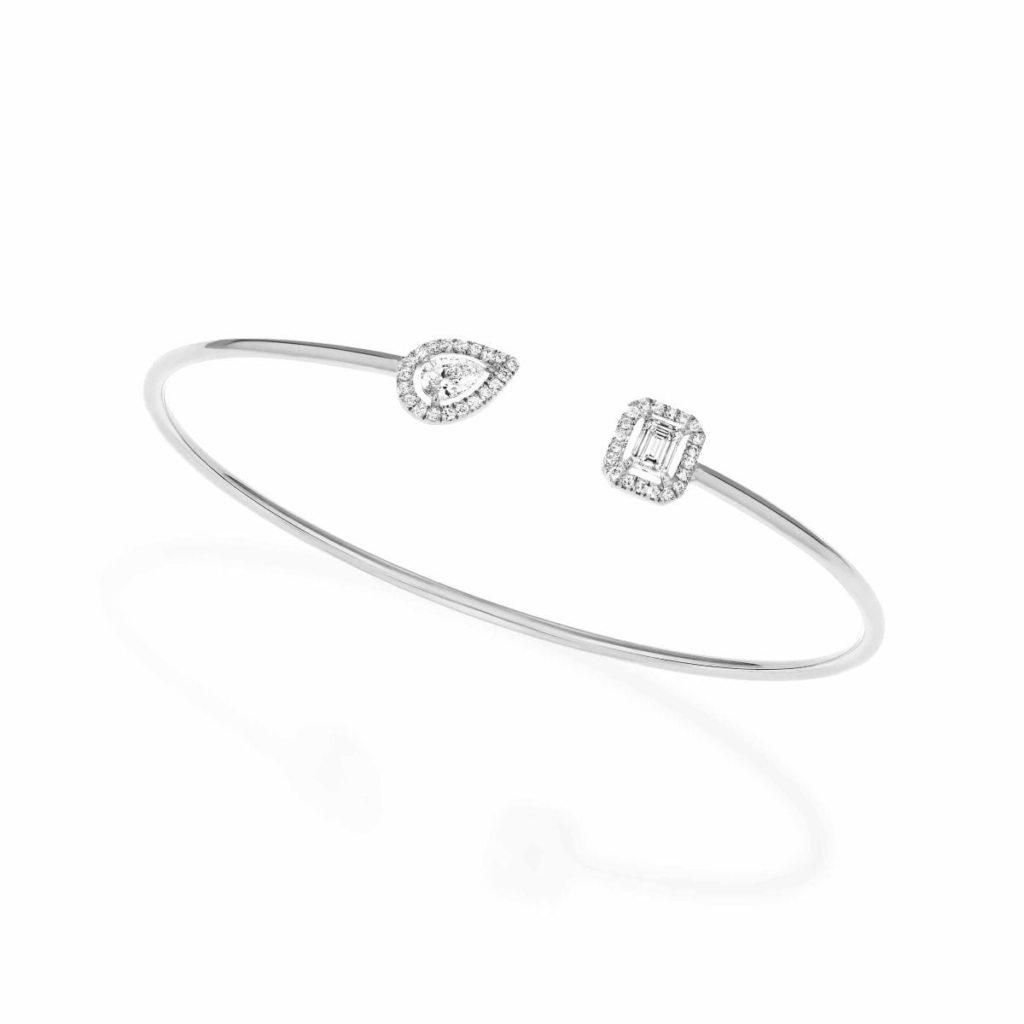 messika bracelet my twin memoire de forme or blanc diamant bis