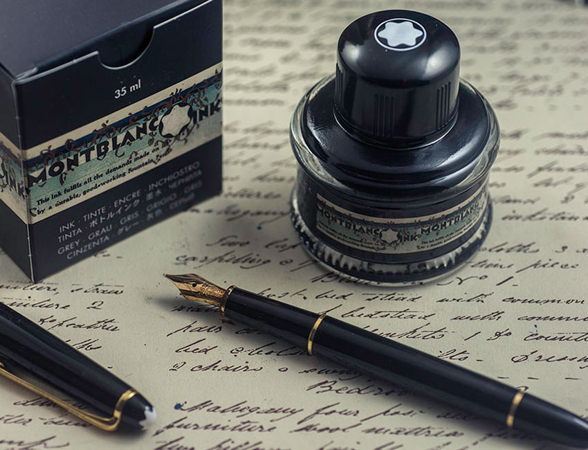 montblanc ink|montblanc hace del oro todo un elixir