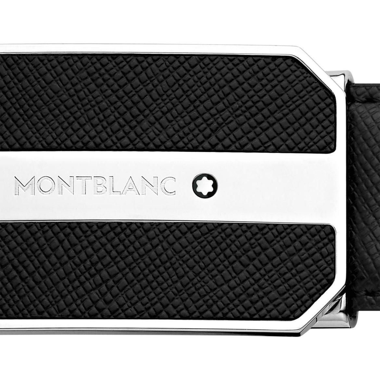 MONTBLANC </br/> Cinturón ejecutivo negro </br/>123893