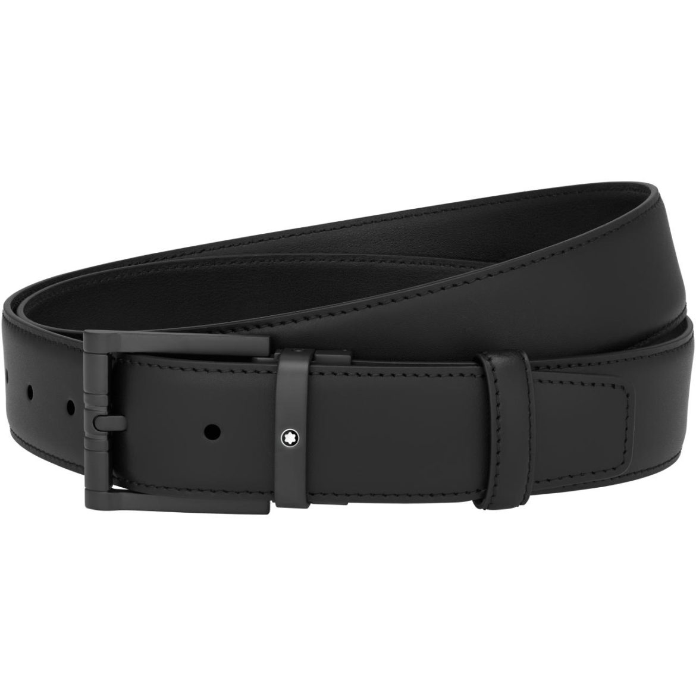MONTBLANC </br/> Cinturón informal negro</br/>123904
