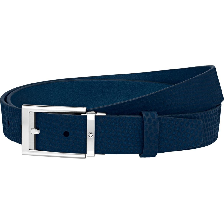 MONTBLANC</br/>Cinturón formal azul</br/>123914