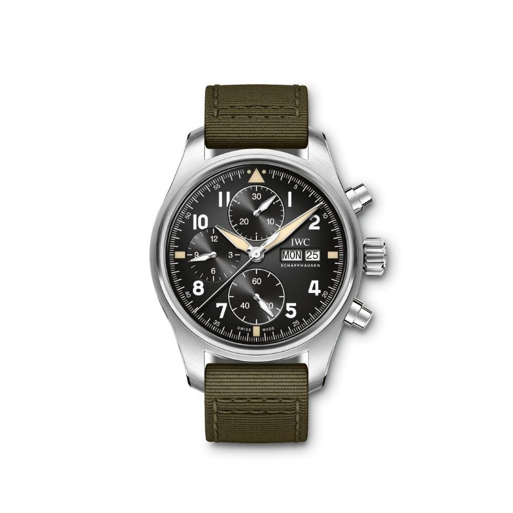 IWC Schaffhausen </br>Reloj De Aviador Spitfire Cronógrafo </br>IW387901