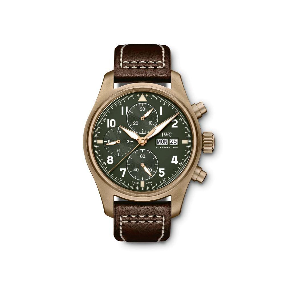 IWC Schaffhausen </br>Reloj De Aviador Spitfire Cronógrafo </br>IW387902