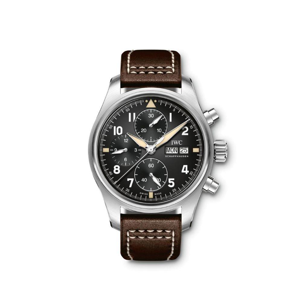 IWC Schaffhausen </br>Reloj De Aviador Spitfire Cronógrafo </br>IW387903