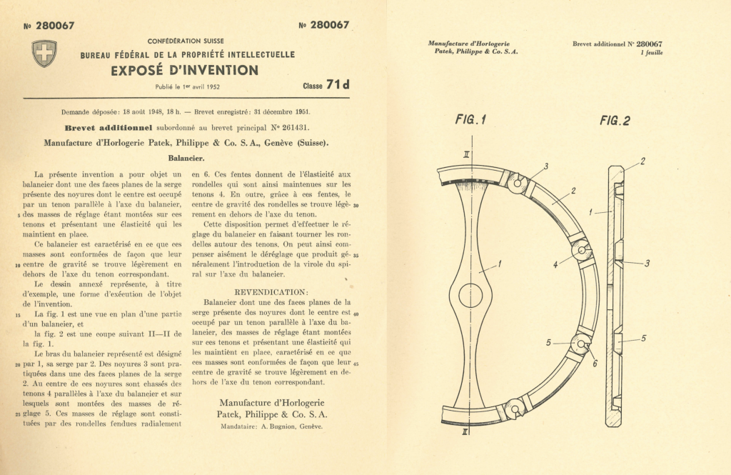 FOTO 9-1949-51 Patent Gyromax balance wheel 280067 CH_